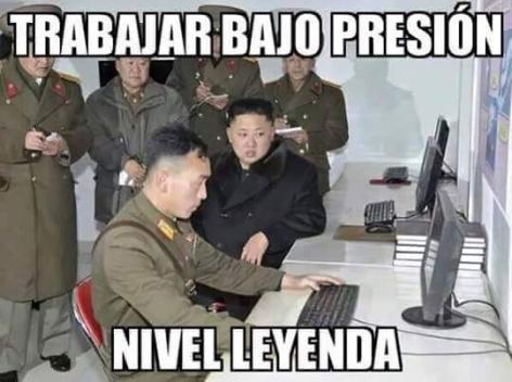 Kim Jong Un presión