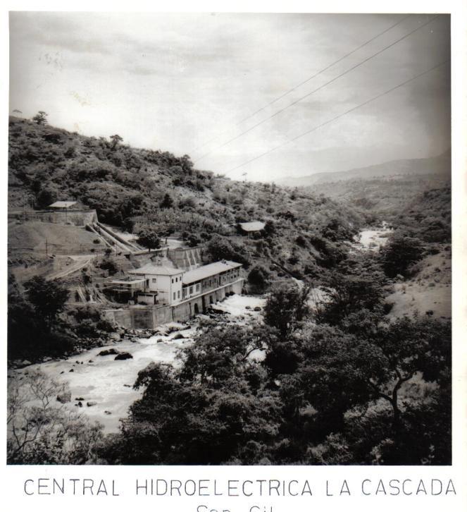 Hidroeléctrica La Cascada década 1960