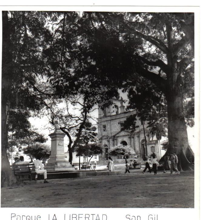 Parque La Libertad décadas 1950-60